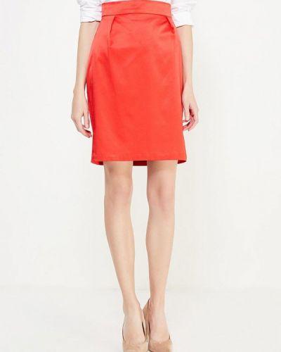 Красная прямая юбка карандаш ли-лу