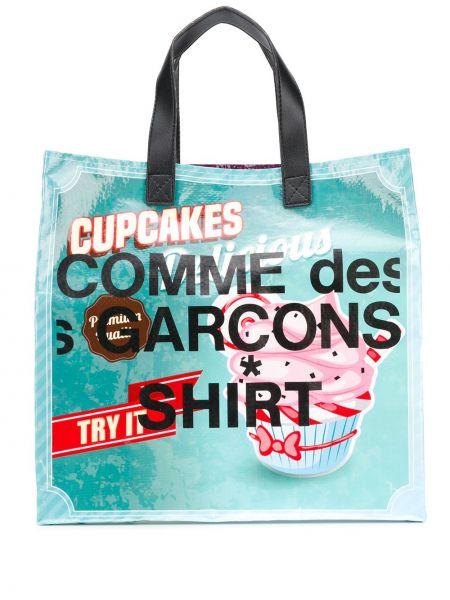 Koszula z logo fioletowy Comme Des Garcons Shirt