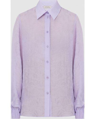Шелковая сиреневая блузка Nina Ricci