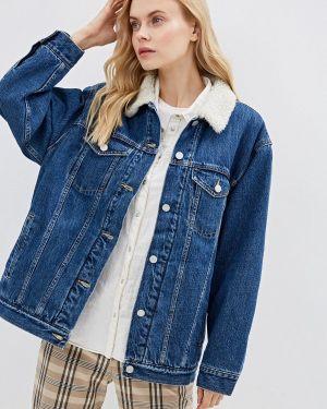 Джинсовая куртка осенняя синий Gap