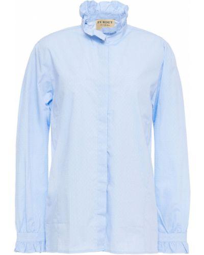 Niebieska koszula bawełniana zapinane na guziki Purdey