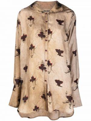 Рубашка из вискозы Uma Wang