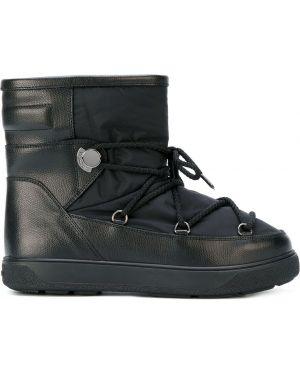 Сапоги на шнуровке черные Moncler