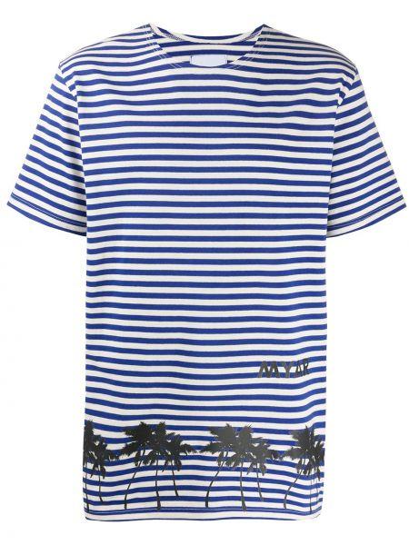 Niebieski t-shirt w paski bawełniany Myar