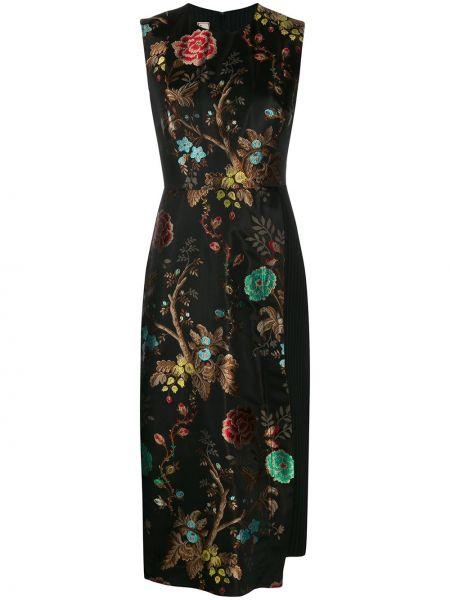 Czarna sukienka w paski bez rękawów Antonio Marras