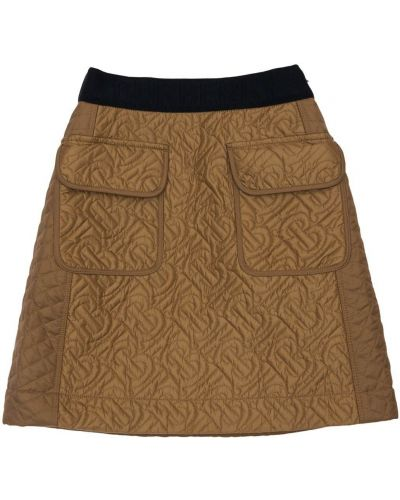 Beżowa spódnica mini pikowana Burberry