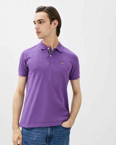 Фиолетовый поло с короткими рукавами Galvanni