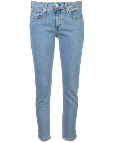 Зауженные джинсы с заниженной талией - синие Rag & Bone/jean