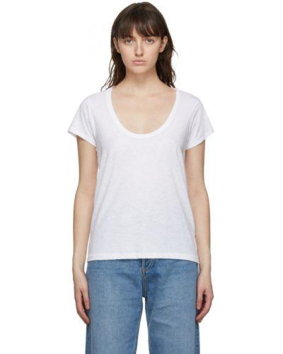 Bawełna biały koszula z krótkim rękawem z kołnierzem krótkie rękawy Rag & Bone