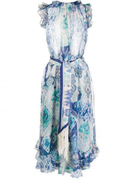 Платье со вставками с абстрактным принтом Zimmermann
