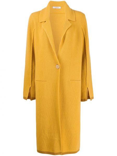 Прямое желтое кашемировое пальто Dorothee Schumacher