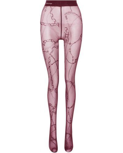 Rajstopy z nadrukiem fioletowy Balenciaga
