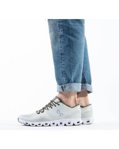 Кожаные белые кроссовки беговые для бега On Running