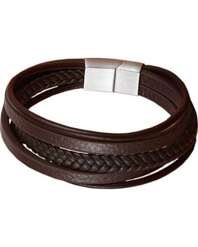 Браслет коричневый кожаный Evora
