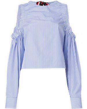 Блузка с открытыми плечами в полоску с длинным рукавом Hilfiger Collection