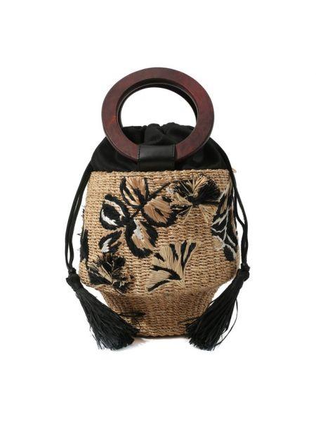Пляжная сумка плетеная с вышивкой Aranaz