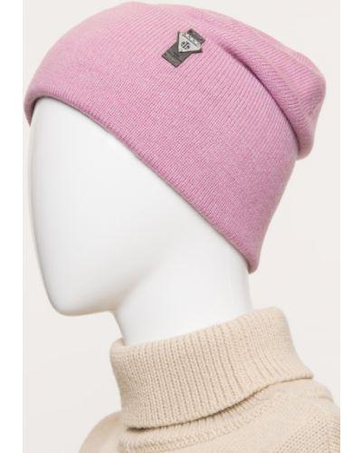 Шерстяная розовая вязаная шапка Ferz