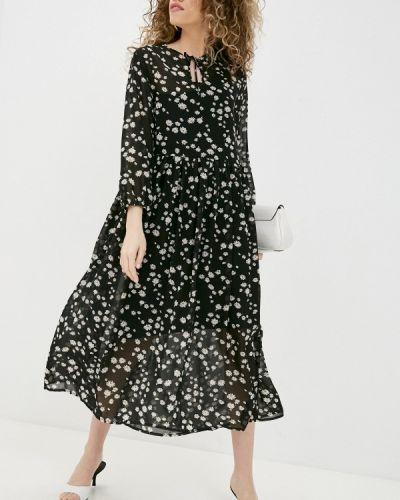 Повседневное черное платье Be Main