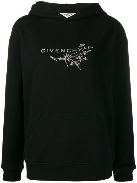 Bluza z kapturem z haftem szary Givenchy