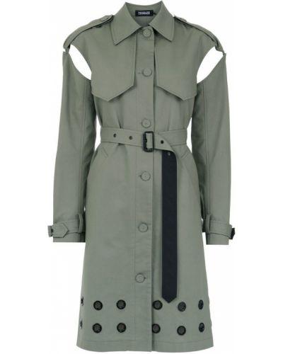 Коралловое пальто классическое с воротником на пуговицах Reinaldo Lourenço