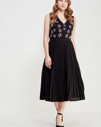 Коктейльное платье осеннее черное Lost Ink Plus
