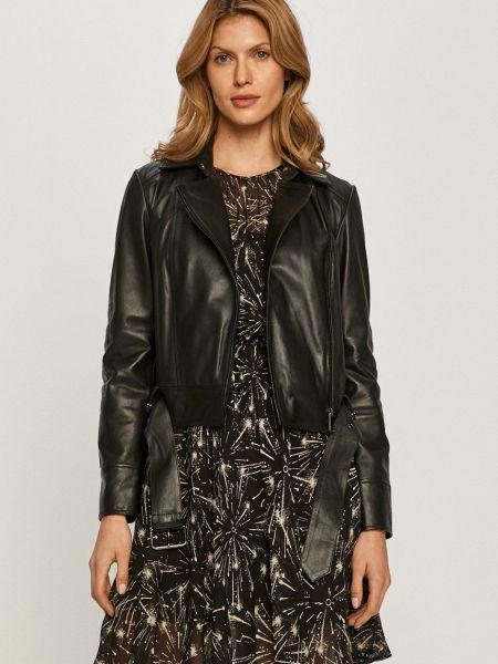 С рукавами кожаная куртка на молнии Max&co