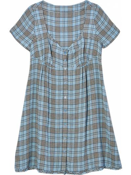 Платье мини короткое - синее Marc Jacobs