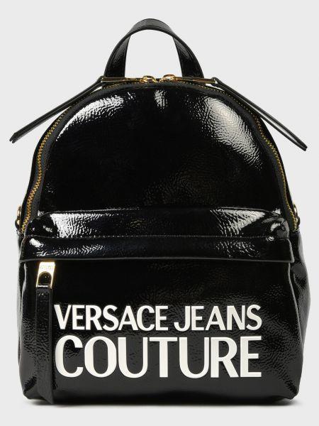 Кожаный рюкзак - черный Versace Jeans Couture