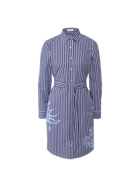 Хлопковое синее платье Van Laack