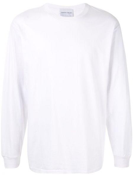 Хлопковая футболка - белая Strateas Carlucci