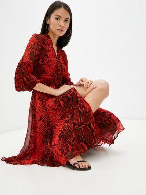 Красное платье осеннее Diane Von Furstenberg