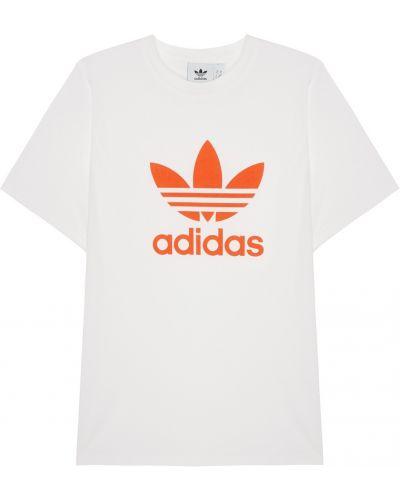 Поло с логотипом прямое Adidas