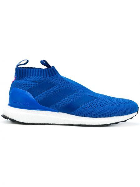 Слипоны синий Adidas
