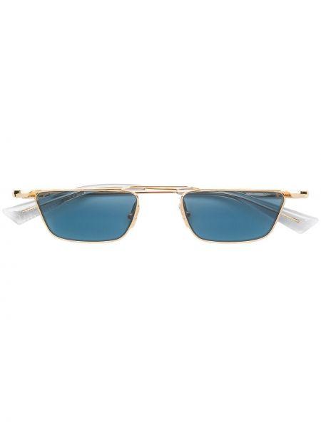 Прямые желтые солнцезащитные очки прямоугольные металлические Christian Roth