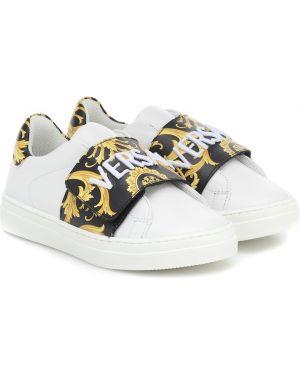 Sneakersy skórzany Versace Kids