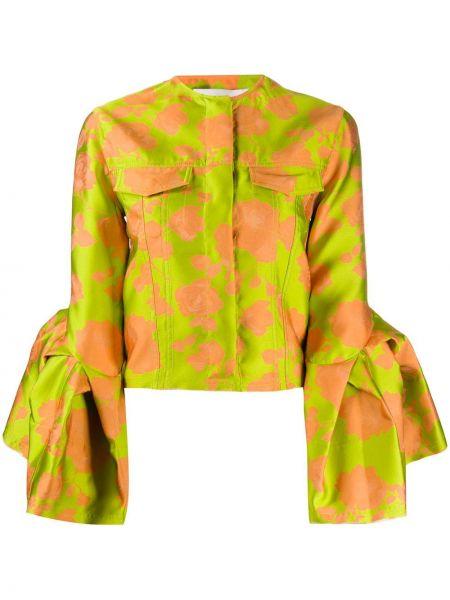 Зеленый приталенный пиджак на пуговицах Marques'almeida