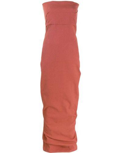 Вечернее платье на молнии с драпировкой Rick Owens