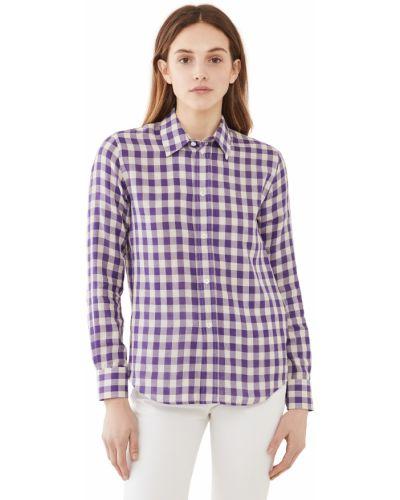 Хлопковая классическая рубашка с длинными рукавами с манжетами Ami