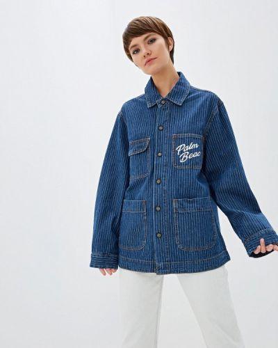 Джинсовая куртка осенняя синий One Teaspoon