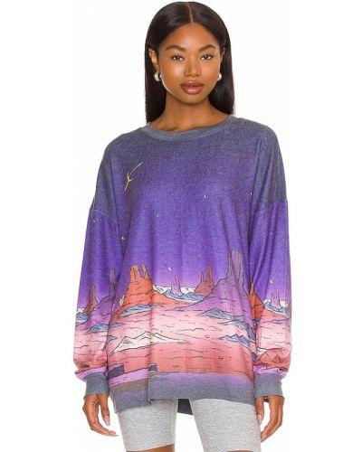 Флисовый свитшот - фиолетовый Wildfox Couture