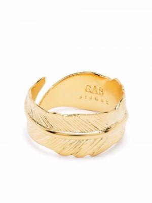 Złoty pierścionek Gas Bijoux
