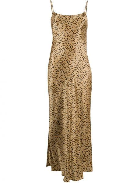Платье миди леопардовое на бретелях Rixo