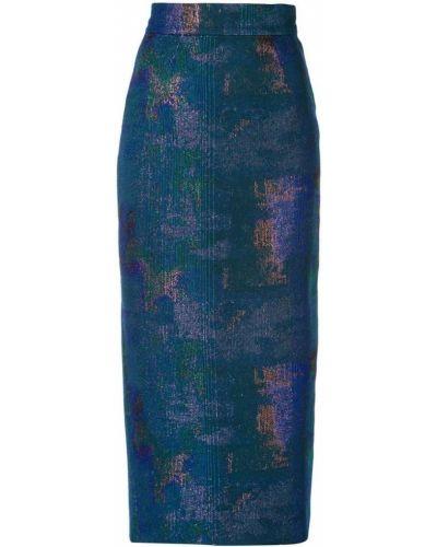 Юбка миди карандаш синяя Rubin Singer