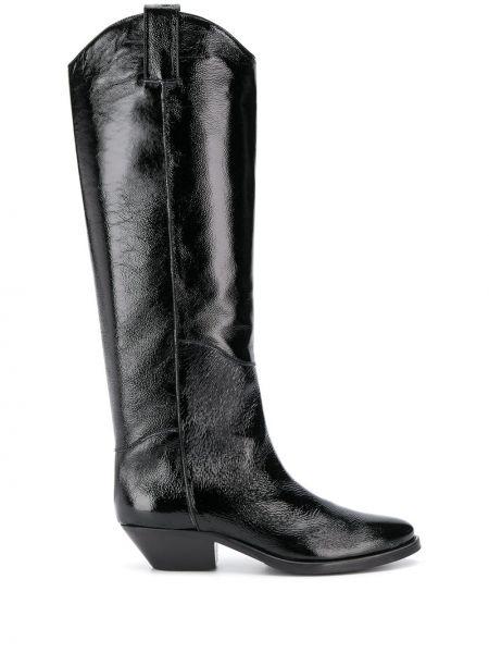 Черные ботинки на каблуке P.a.r.o.s.h.