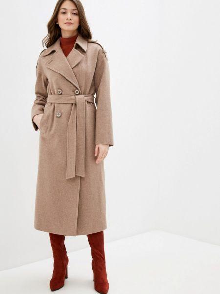 Бежевое пальто с капюшоном Avalon