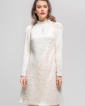 Платье прямое бежевое Yulia'sway