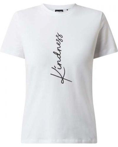 Biały t-shirt bawełniany Pieces