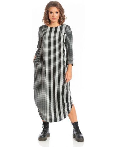 Свободное с рукавами платье миди бохо Merlis