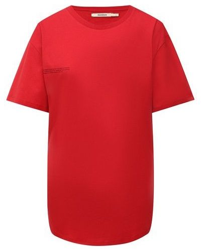 Хлопковая футболка - красная Pangaia