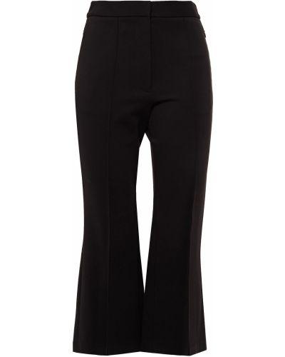 Czarne spodnie rozkloszowane Tibi
